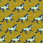 Mustang 0003-003 Gold Mustang by Melody Miller for Cotton + Steel