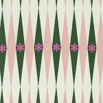 Playful 0015-2 Green Backgammonish by Melody Miller for Cotton + Steel