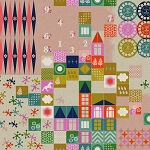 Playful 0017-12 Pink Playroom Cotton Canvas by Cotton + Steel
