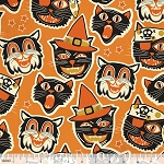 Spooktacular Eve 101.107.11.2 Orange Cat-tastic by Blend