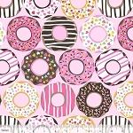 Lolly 101.122.01.1 Light Pink Doughnut Love by Maude Asbury for Blend