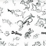 Celebrate Seuss 10790-1 Black & White Character Sketches