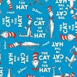 The Cat in the Hat by Dr. Seuss 10796-203 Blue by Robert Kaufman EOB