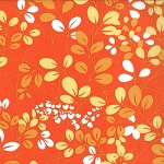 Simply Color 10801-16 Sweet Tangerine Sprigs by V & Co for Moda