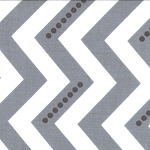 Simply Color 10804-13 White Graphite Grey Dotted Zig Zag by Moda