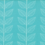 Simply Color 10805-19 Aquatic Blue Leafy Stripe by V & Co for Moda EOB