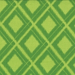 Simply Color 10806-18 Lime Green Ikat Diamonds by V & Co for Moda