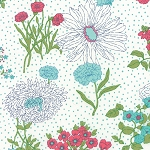 Color Me Happy 10820-11 White Flower Garden by V & Co for Moda