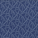 Color Me Happy 10826-16 Navy Vs by V & Co for Moda