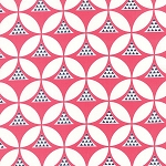 Color Theory 10831-12 Pink Geo Mod by V & Co for Moda