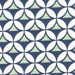 Color Theory 10831-15 Navy Geo Mod by V & Co for Moda
