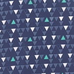 Color Theory 10832-15 Navy Triangles by V & Co for Moda