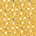 Color Theory 10832-16 Mustard Triangles by V & Co for Moda