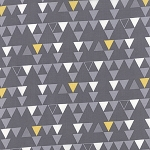 Color Theory 10832-17 Grey Triangles by V & Co for Moda