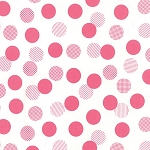 Color Theory 10833-11 White Pink Dots by V & Co for Moda