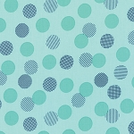 Color Theory 10833-14 Teal Dots by V & Co for Moda