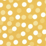 Color Theory 10833-16 Mustard Dots by V & Co for Moda