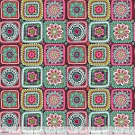 Riding Hood 114.109.05.1 Grey Granny Squares by Blend