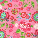 Gypsy Girl 11460-18 Candy Floss Pink Gypsy Bloom by Moda EOB .25 yd