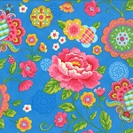 Gypsy Girl 11460-23 Wishing Well Blue Gypsy Bloom by Moda EOB