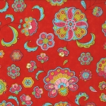 Gypsy Girl 11462-16 Scarlet Red Paisley Flowers for Moda