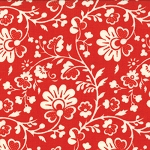 Gypsy Girl 11466-16 Red Chinoiserie for Moda FQ EOB