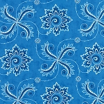 Fancy 11493-12 Admirals Blue Twirl by Lily Ashbury for Moda