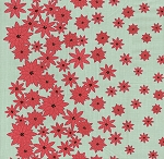 Winter's Lane 13091-14 Mint Poinsettias by Kate & Birdie for Moda