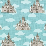 Storybook 13111-17 Aqua Castles by Kate & Birdie for Moda EOB