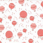 Storybook 13114-13 Peach Hot Air Balloons by Kate & Birdie for Moda