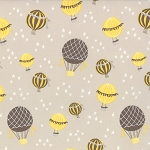 Storybook 13114-14 Stone Hot Air Balloons by Kate & Birdie for Moda