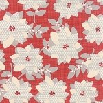 Winterberry 13140-13 Berry Poinsettia by Kate & Birdie for Moda