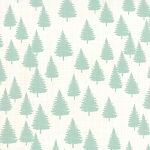 Winterberry 13143-12 Snow/Mint Forest by Kate & Birdie for Moda