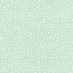 Winterberry 13146-12 Mint Snowy Dots by Kate & Birdie for Moda