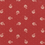 Midwinter Reds 14753-23 Cranberry Flower by Moda