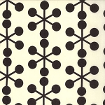 Comma 1511-11 Chalk Black Asteriks by Zen Chic for Moda