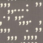 Comma 1514-18 Slate Chalk Commas by Zen Chic for Moda