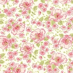Ambleside 18600-11 Linen White Flower Garden by Moda