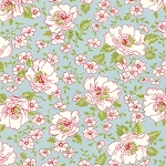 Ambleside 18600-13 Duck's Egg Flower Garden by Moda