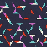 Moonlit 1902-002 Navy Tangrams by Cotton + Steel