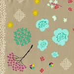 Mochi 1910-1 Linen Mochi Floral by Cotton + Steel