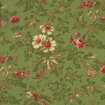 Incarnadine 1994-003 Green Med Floral by Robyn Pandolph for RJR