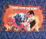 Gone With The Wind 21283-N Blue Movie PARTIAL Panel EOB