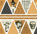 Sew Scary 23857-O Pumpkin Bunting Panel by Quilting Treasures