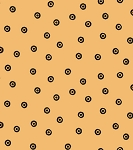 Sew Scary 23864-O Light Pumpkin Eye Dot by Quilting Treasures