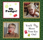 A Christmas Story 23909-F Spruce Ralphie Patches by Quilting Treasures