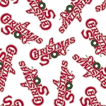 A Christmas Story 23913-Z White Word Toss by Quilting Treasures
