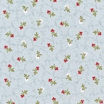 Attic Treasures 24087 Blue Floral Sprig by Red Rooster EOB