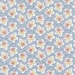 Attic Treasures 24090 Blue Floral Leaf by Red Rooster EOB