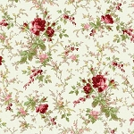 With All My Heart 24803 Beige Large Floral by Red Rooster